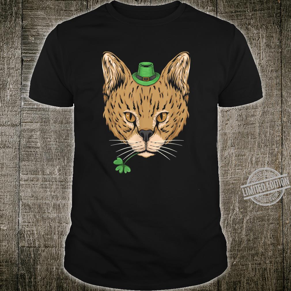 St Patricks Day Gangsta Cat Lucky Clover Shirt