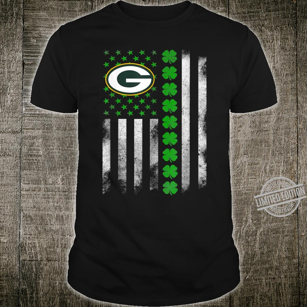 St patrick day football Flag Team GreenBayPacker Shirt