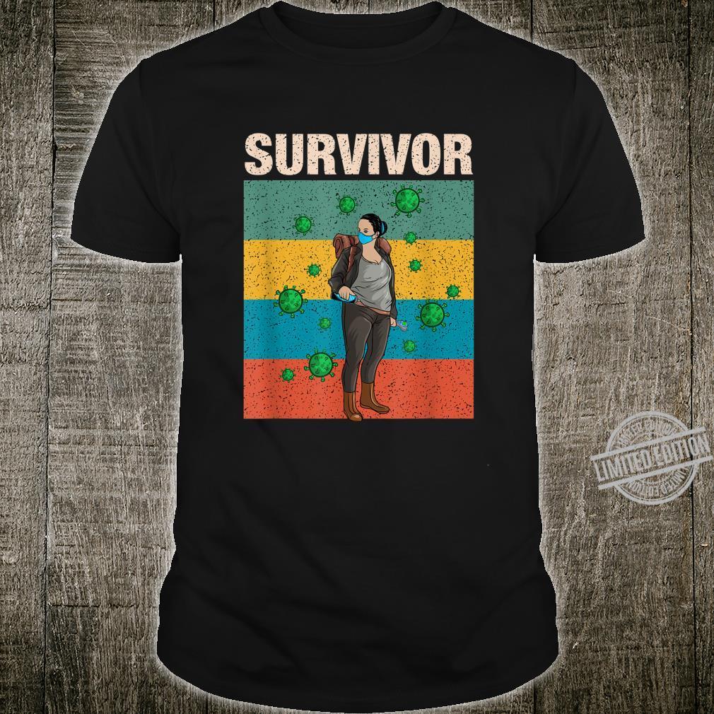 Survivalist Apocalypse Face Mask Prepper Shirt