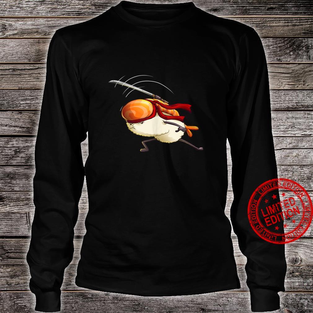 Sushi Japanese Samurai Cute Sushi Japan Foods Shirt long sleeved