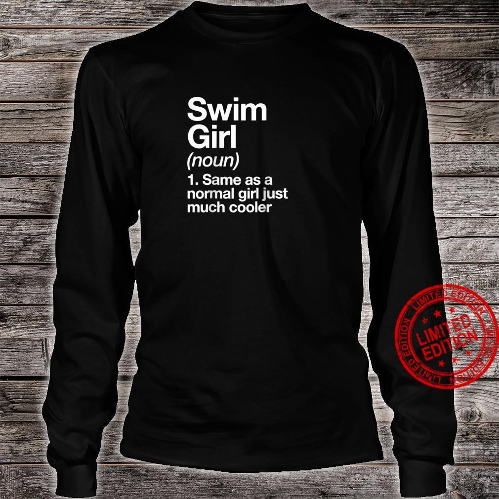 Swim Girl Definition & Sassy Sports Shirt long sleeved