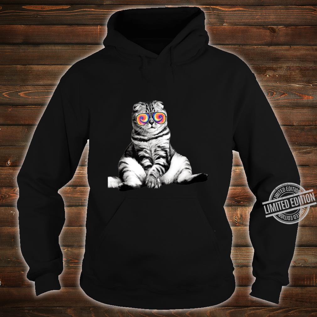 Tabby Cat Wearing Sunglasses Retro Cat Shirt hoodie