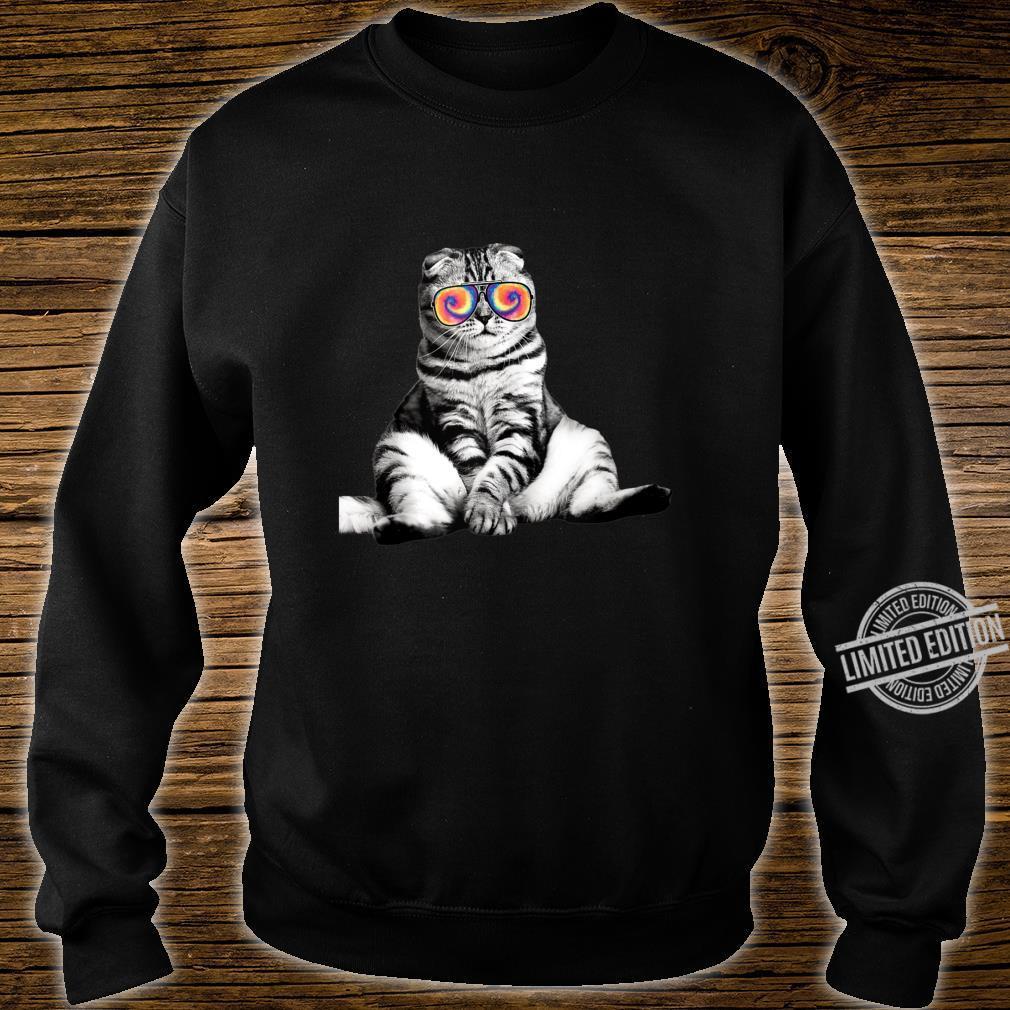 Tabby Cat Wearing Sunglasses Retro Cat Shirt sweater