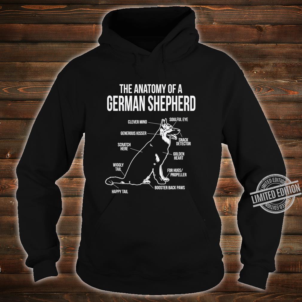 The Anatomy Of A German Shepard Dog Breed Shirt hoodie