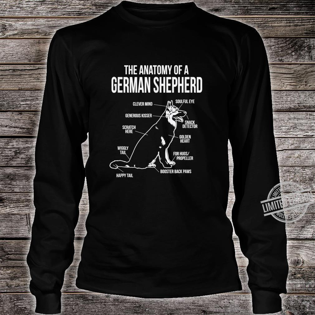 The Anatomy Of A German Shepard Dog Breed Shirt long sleeved