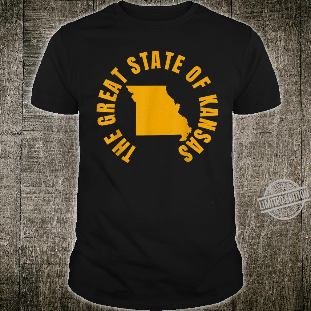 The Great State of Kansas Kansas Missouri Trump Tweet Shirt