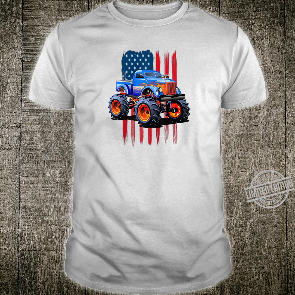 The perfect American Flag Monster Truck's Rule Shirt Shirt