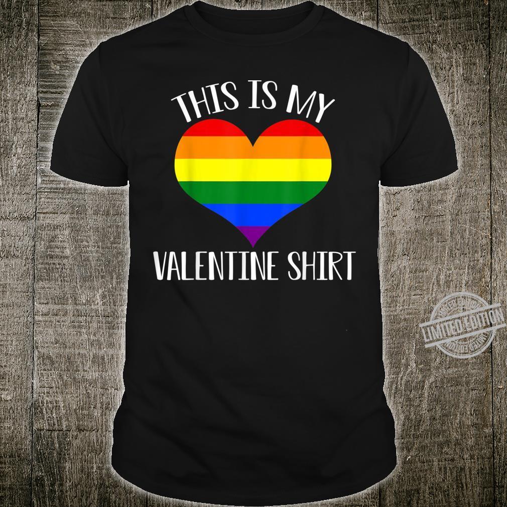 This Is My Valentine Shirt Gay Pride LGBTQ Couple Shirt