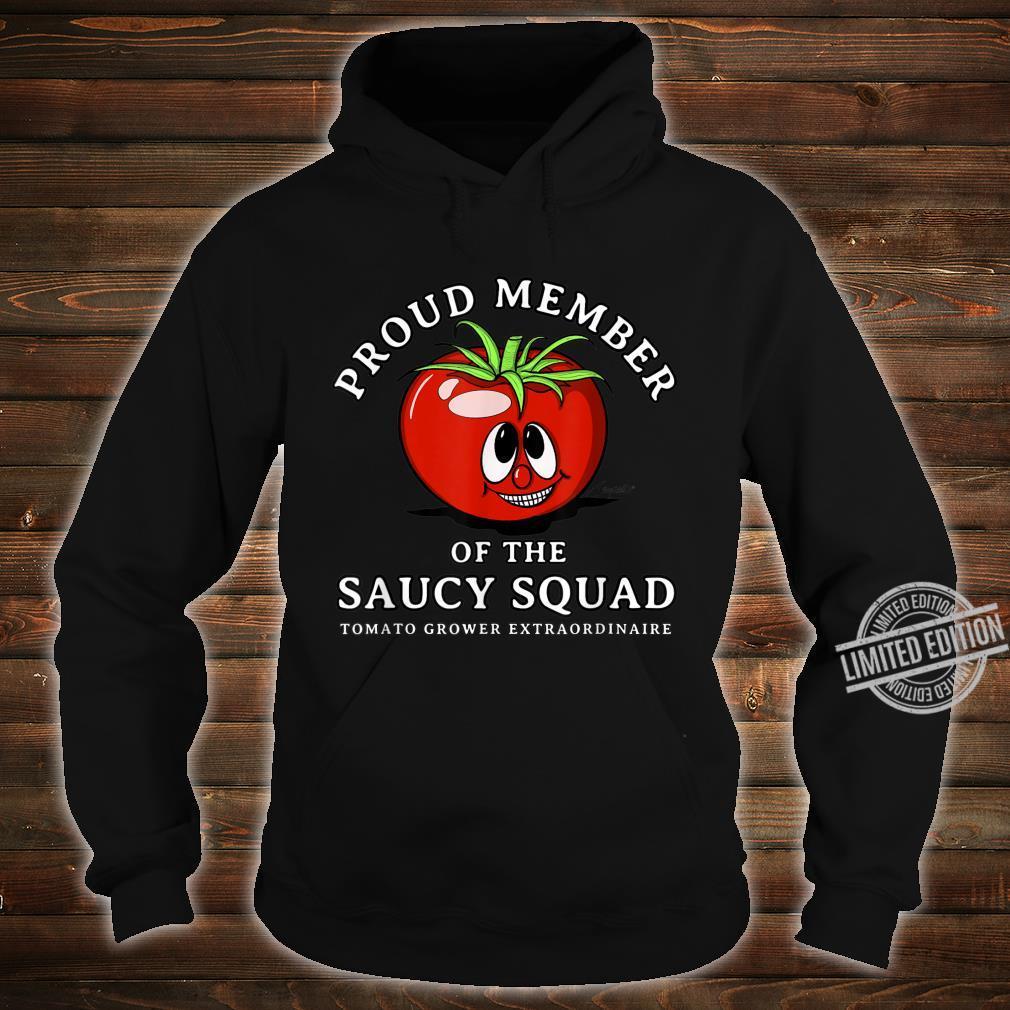 Tomato Design Perfect Gardening SAUCY SQUAD Shirt hoodie
