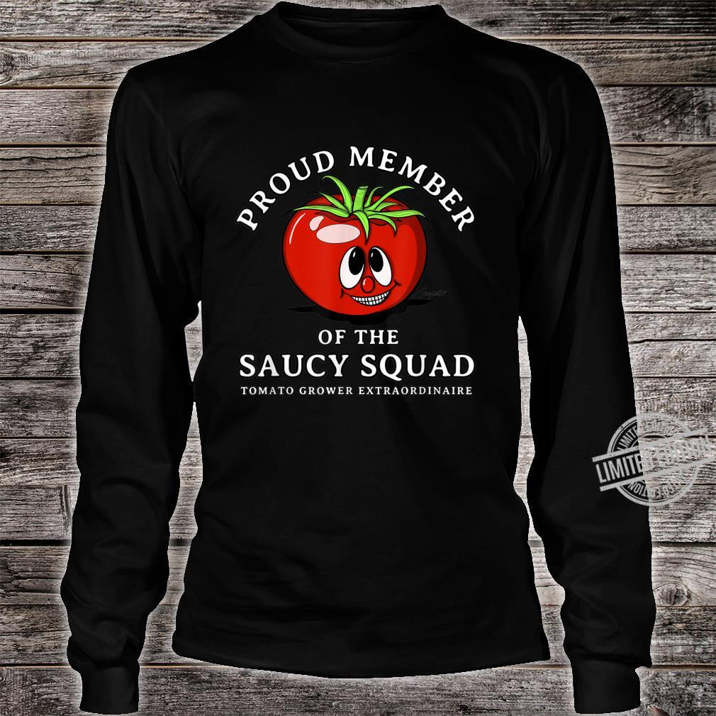 Tomato Design Perfect Gardening SAUCY SQUAD Shirt long sleeved