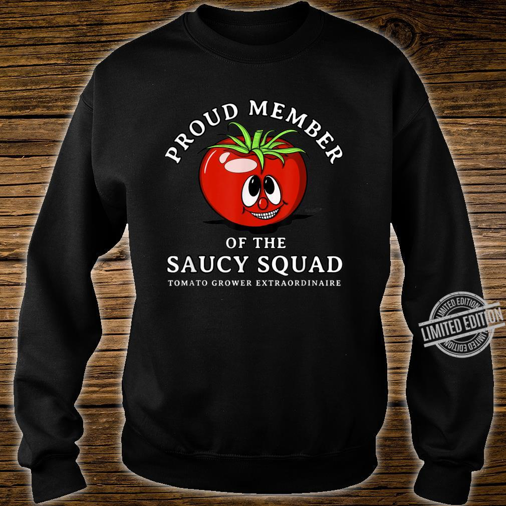 Tomato Design Perfect Gardening SAUCY SQUAD Shirt sweater