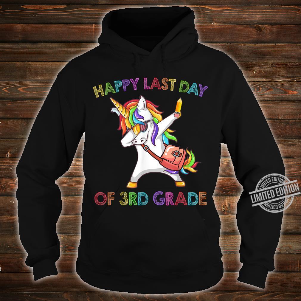 Unicorn Dabbing Happy Last Day Of 3Rd Grade Shirt hoodie