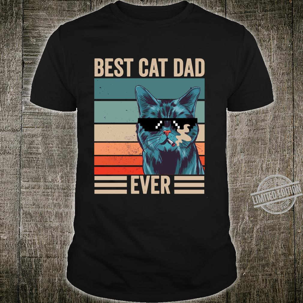 Vintage Best Cat Dad Ever father's day Shirt