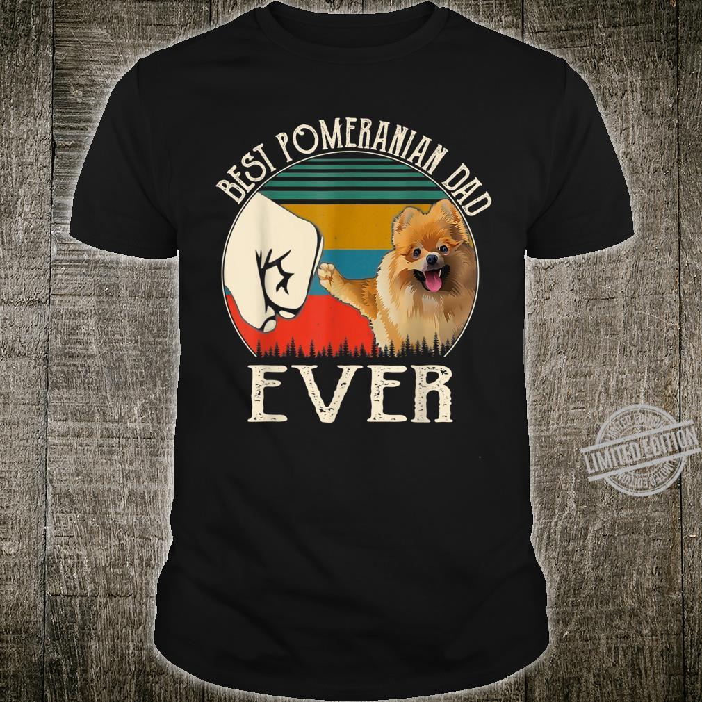 Vintage Best Dog Pomeranian Dad Ever Bump Fit Shirt