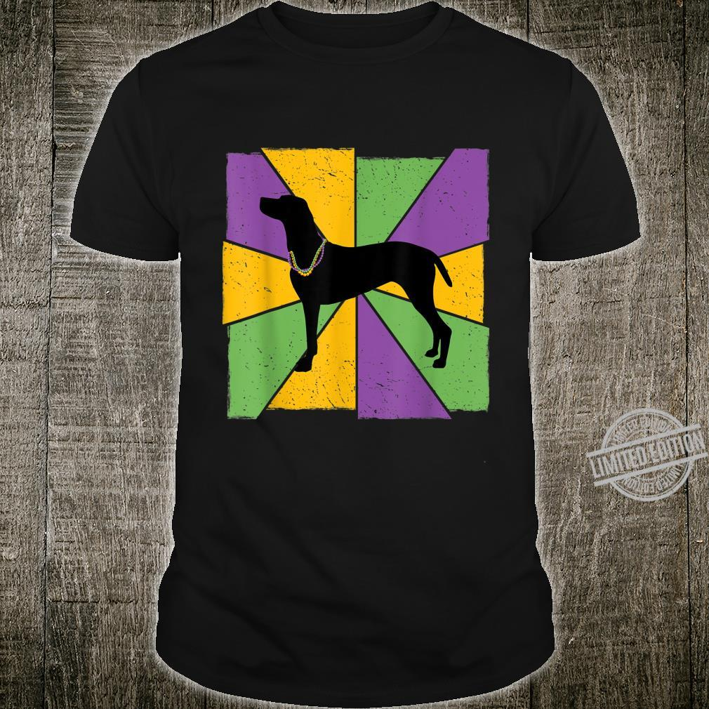 Vintage Mardi Gras Vizsla, Vizsla Dog Owner Mardi Gras Shirt