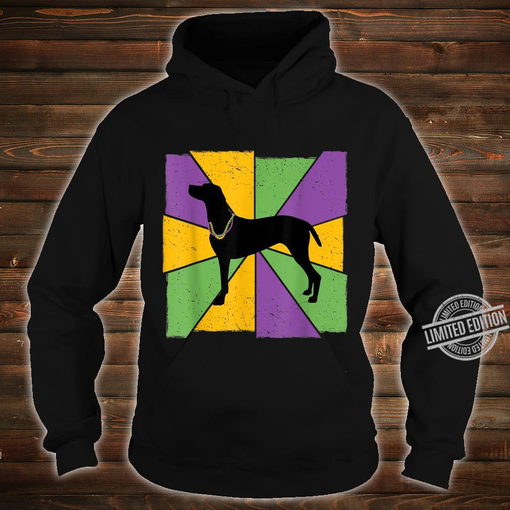 Vintage Mardi Gras Vizsla, Vizsla Dog Owner Mardi Gras Shirt hoodie