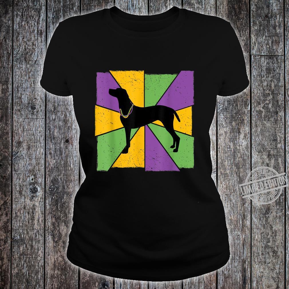 Vintage Mardi Gras Vizsla, Vizsla Dog Owner Mardi Gras Shirt ladies tee