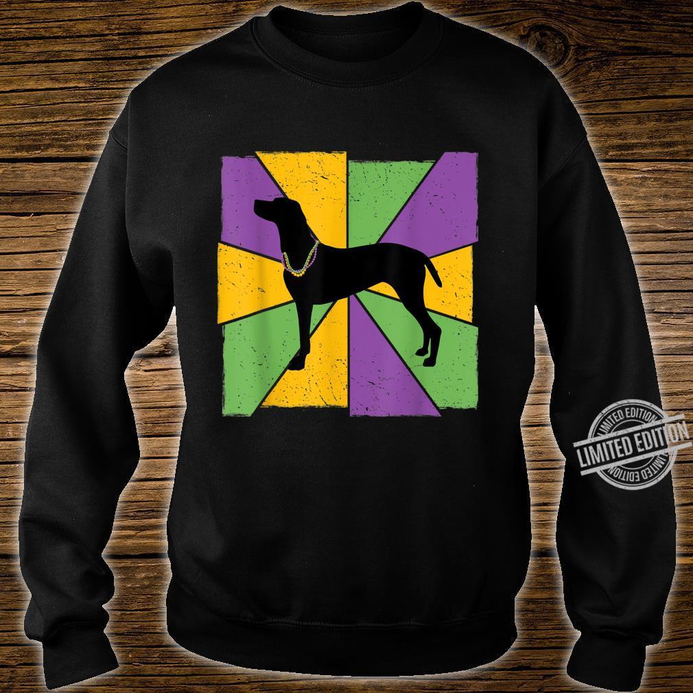 Vintage Mardi Gras Vizsla, Vizsla Dog Owner Mardi Gras Shirt sweater