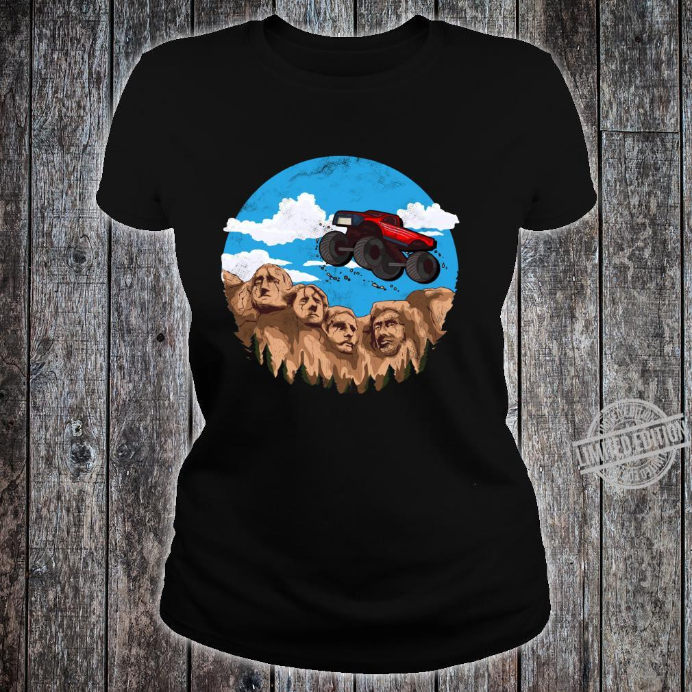 Vintage Monster truck t and toddlers South Dakota t Shirt ladies tee