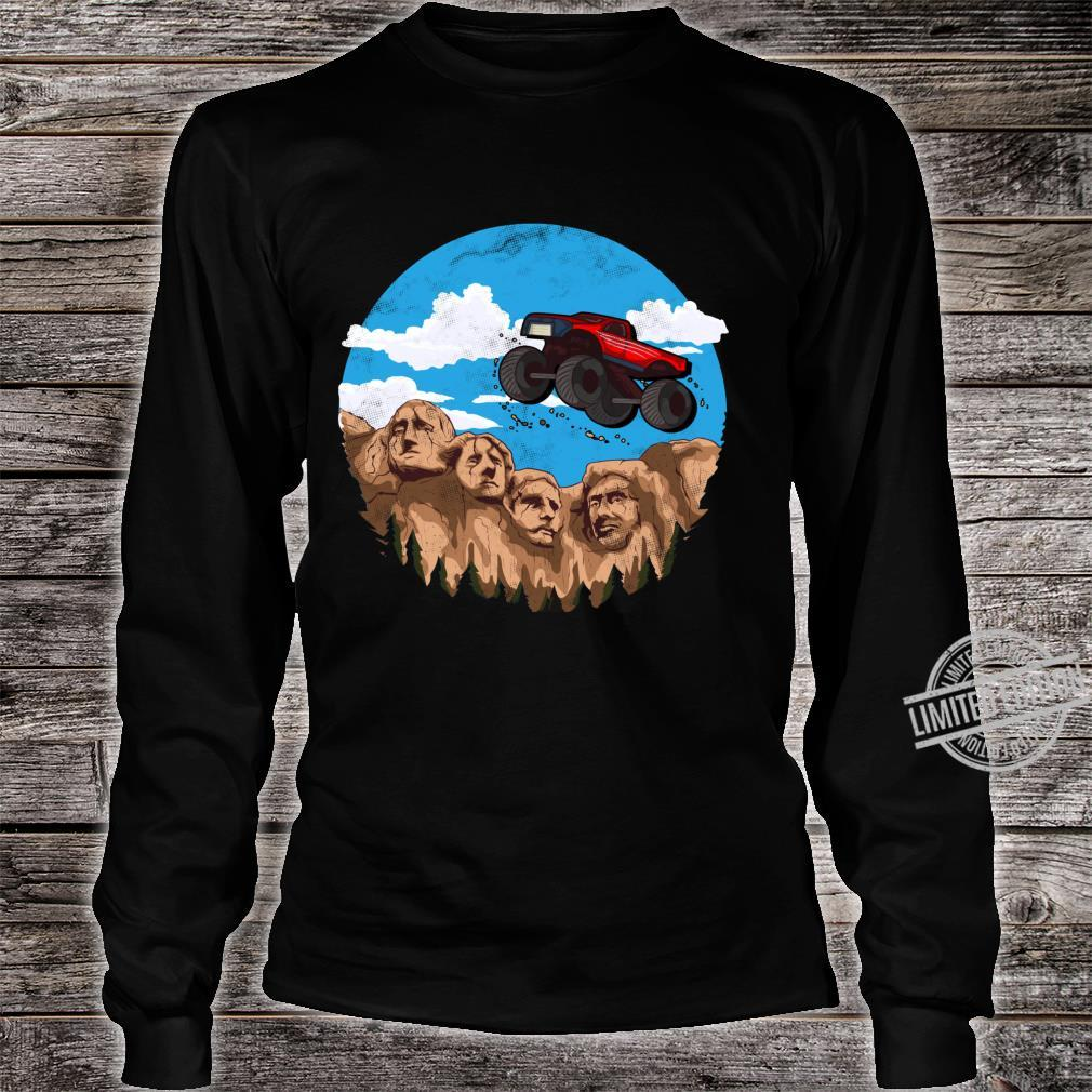 Vintage Monster truck t and toddlers South Dakota t Shirt long sleeved