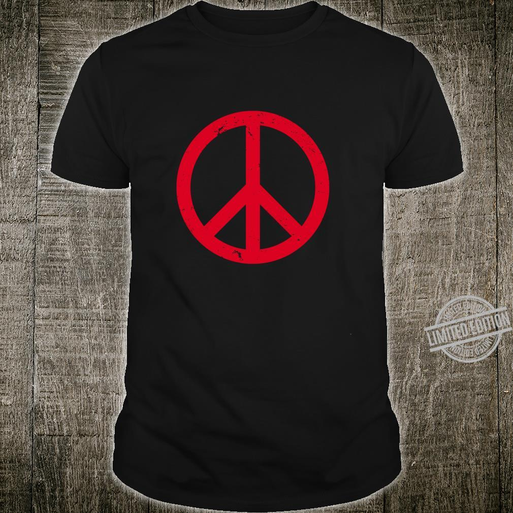 Vintage Red Peace Sign Shirt