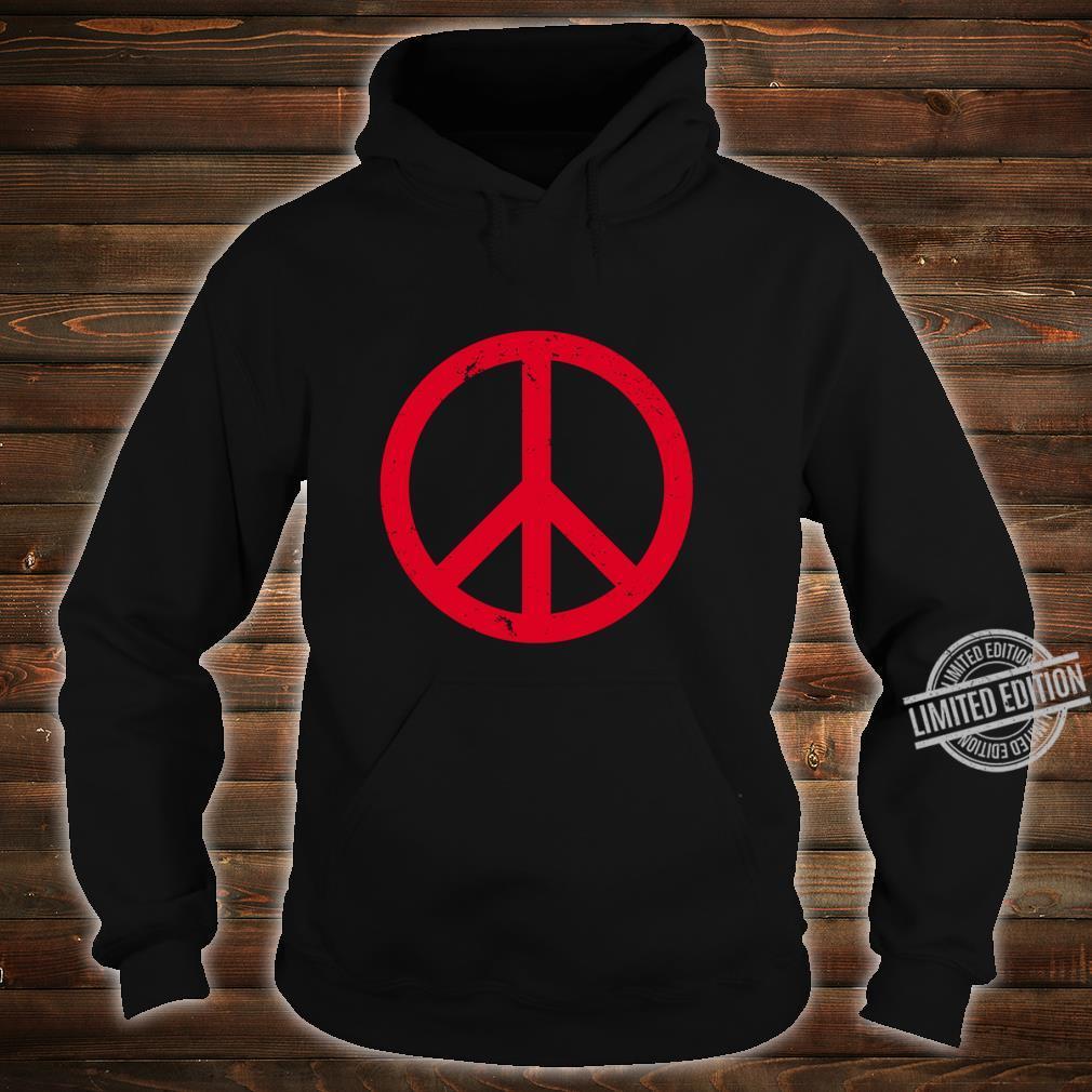 Vintage Red Peace Sign Shirt hoodie