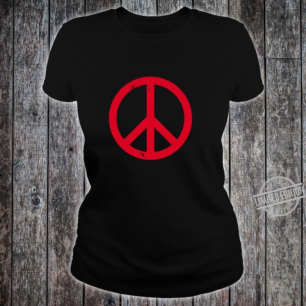 Vintage Red Peace Sign Shirt ladies tee