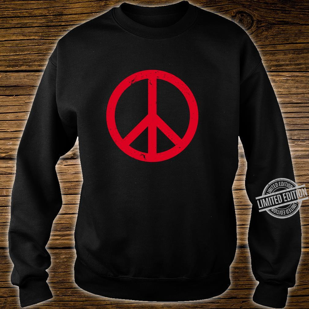 Vintage Red Peace Sign Shirt sweater