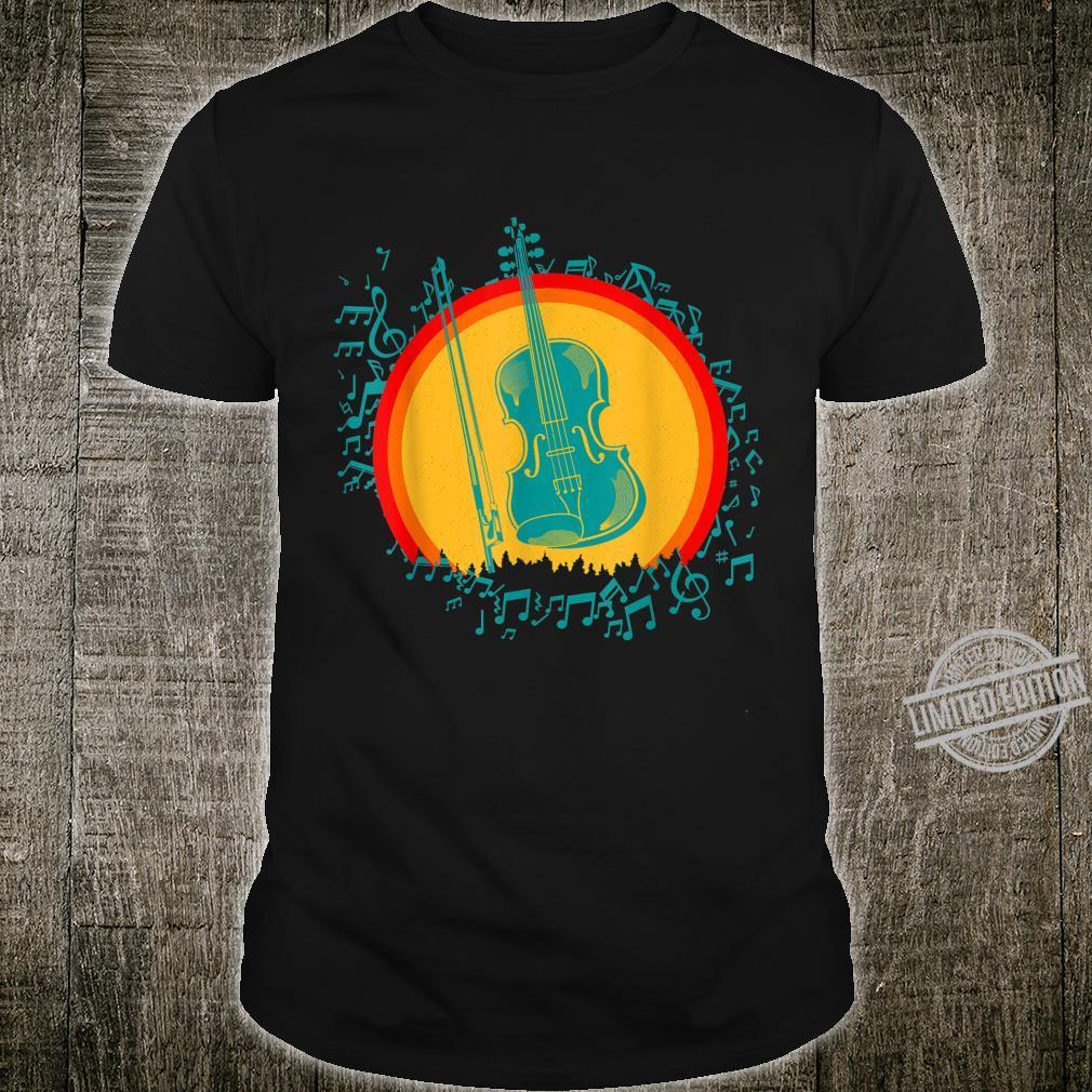 Violin Violins Violinist Vintage Retro Old School Shirt