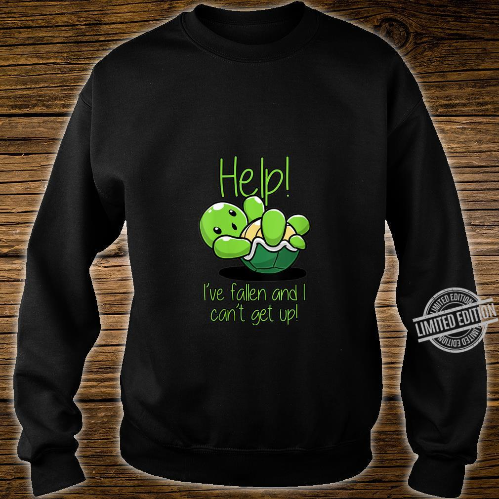 Womens Help I've Fallen And I Can't Get Up Turtles Shirt sweater