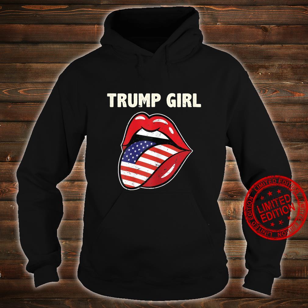 Womens Ki America Flag Lips Trump Girl Costume 2020 Election Shirt hoodie