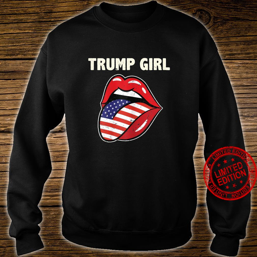 Womens Ki America Flag Lips Trump Girl Costume 2020 Election Shirt sweater